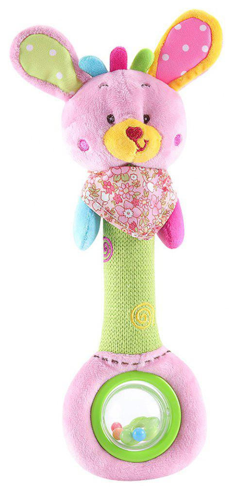 Kid Rattle Toy Color Block Lovely Animal Shaped Fashion Creative Plush Toy - multicolor C