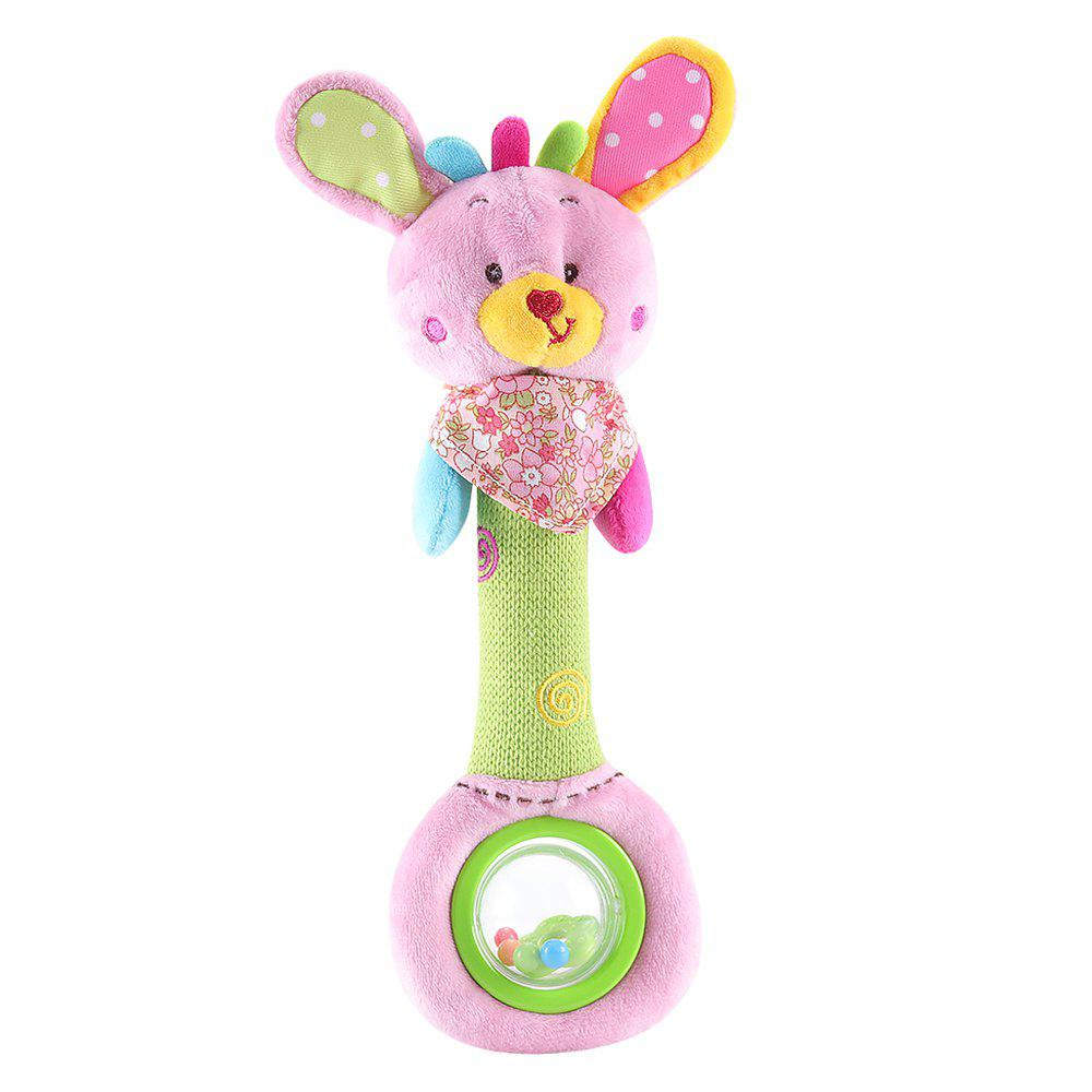 Kid Rattle Toy Color Block Lovely Animal Shaped Fashion Creative Plush Toy