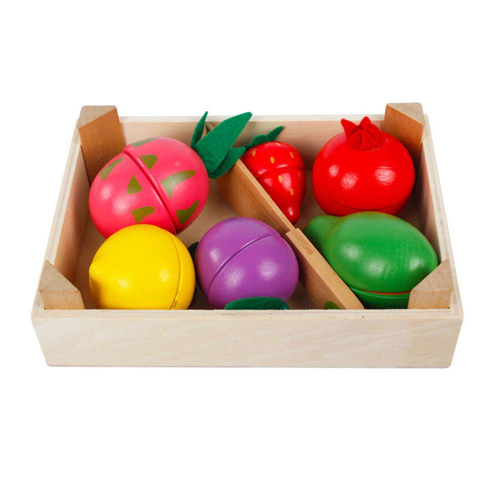 Kid Pretend Toy Early Education Wooden Vegetable Fruit Toy Set digital fruit tree style wooden magnetic maze toy green