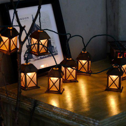1.5M 10leds Mini House LED Fairy String Light for Party Christmas Bar Home Festival Decorative Holiday Lighting - BROWN