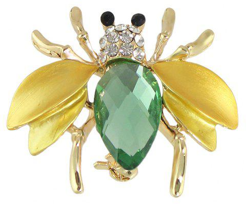 Cute Insect Honeybee Brooches Pins - GOLD