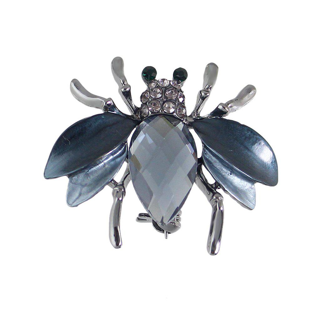Cute Insect Honeybee Brooches Pins - GUNMETAL