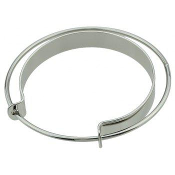 Big Open Cuff Statement Bracelet - SILVER