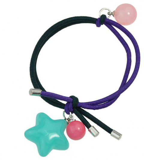 Candy Color Beads Star Bead Charm Headbands - TRON BLUE