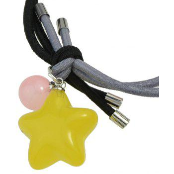 Candy Color Beads Star Bead Charm Headbands - HARVEST YELLOW