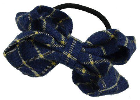 Black Elastic Geometric Pattern Hairband - DARK SLATE BLUE