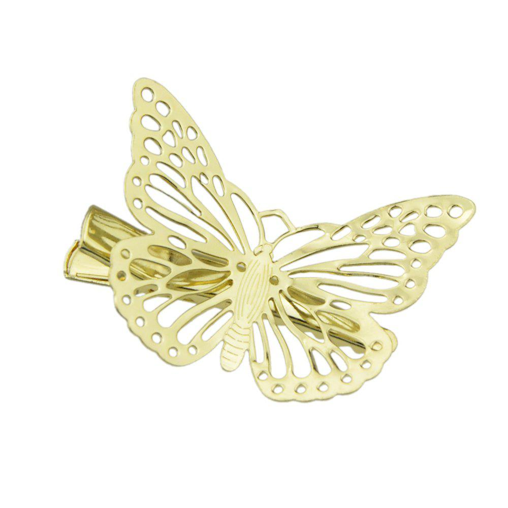 Gold Color Butterfly Clip Hairpins - GOLD