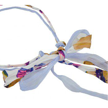 Colorful Yarn Geometric Pattern Bowknot Headbands - multicolor C