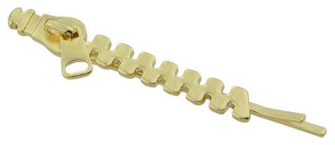 Zipper Pattern Barrettes New Coming Hair Accessories - GOLD