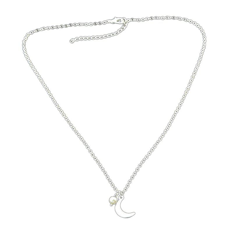 Minimalism Long Chain Pendant Necklace For Women - SILVER