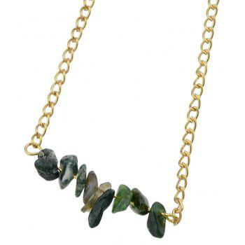 Colorful Natural Stone Geometric Choker Necklace - BLACK