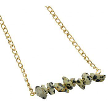 Colorful Natural Stone Geometric Choker Necklace - LEOPARD