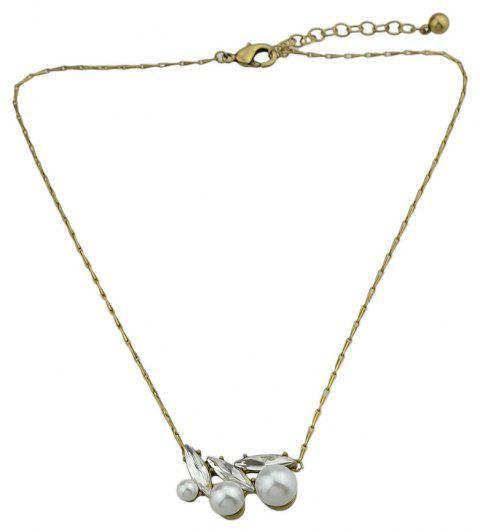 Silver Color with Crystal Pendant Necklace - SILVER