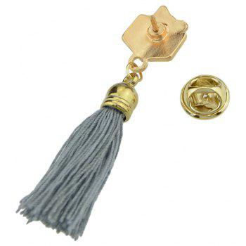 Enamel with Tassel Gift Box Brooches for Women - multicolor