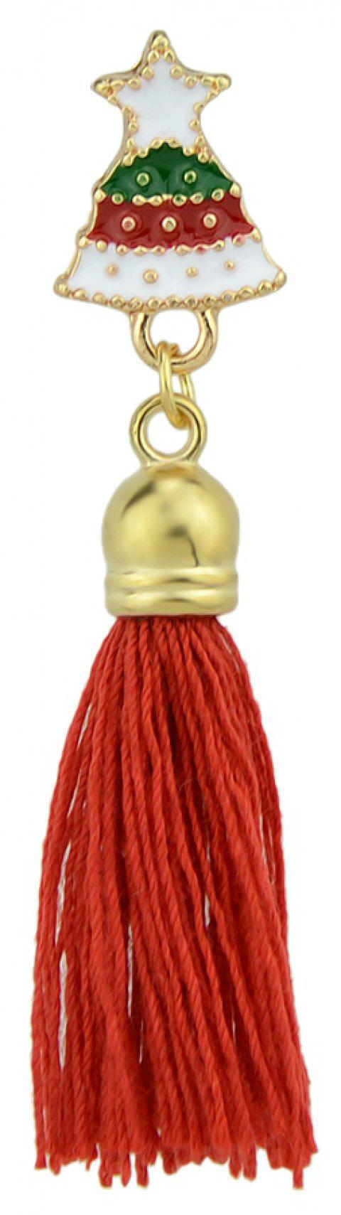 Enamel with Tassel Small Bell Brooches for Women - multicolor