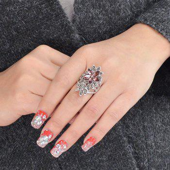 Luxurious Full Rhinestone Rings - SILVER ONE-SIZE