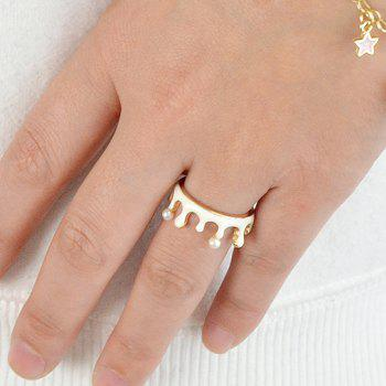 Golden Lovely Drops of Oil Ring - GOLD ONE-SIZE