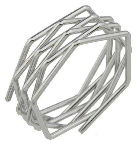 Punk Rock Style Circle Geometric Finger Ring - SILVER ONE-SIZE