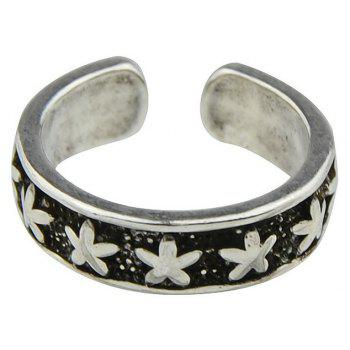 Punk Style Star Shape Open Cuff Knuckle Rings - SILVER ONE-SIZE