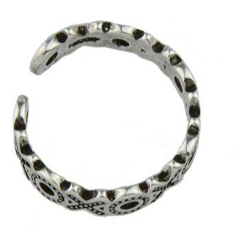 Letter Shape Midi Open Cuff Knuckle Rings - SILVER ONE-SIZE