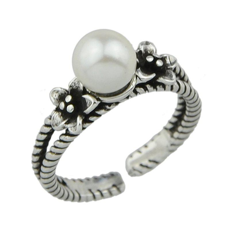 Punk Style Flower Midi Finger Ring - SILVER ONE-SIZE