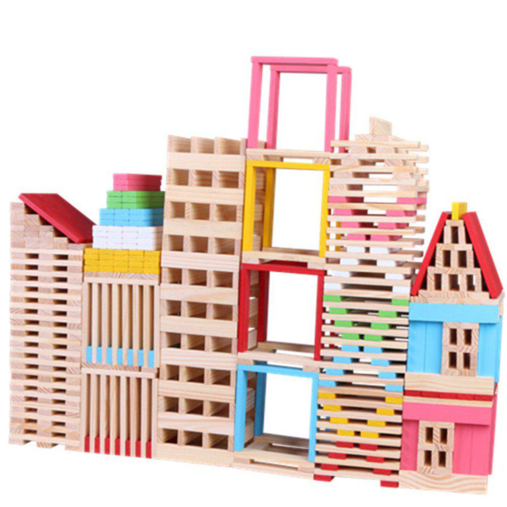 Intelligent Toy Wooden Building Model Material Building Block 150PCS onshine 70pcs train toy model cars wooden building slot track rail transit parking garage toy vehicles kids gifts