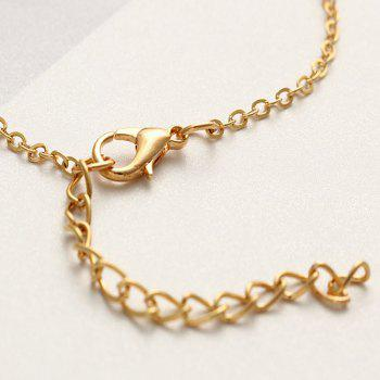 Fashionable Simple Lady Crystal Anklet - GOLD