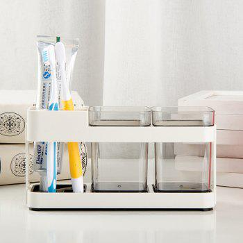 Simple Couple Toothbrush Box Toothbrushes Holder - LIGHT GRAY