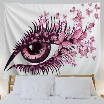 Butterfly  Eyes 3D Printing Home Wall Hanging Tapestry for Decoration - multicolor A W153CMXL102CM