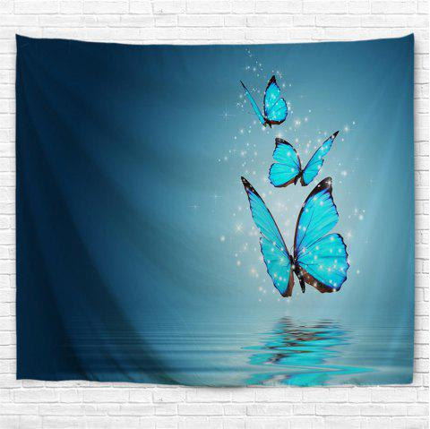 Butterfly Shadow 3D Printing Home Wall Hanging Tapestry for Decoration - multicolor A W153CMXL102CM