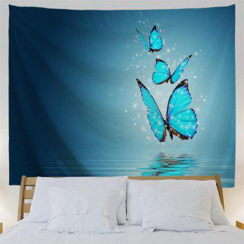 Butterfly Shadow 3D Printing Home Wall Hanging Tapestry for Decoration - multicolor A W153CMXL130CM