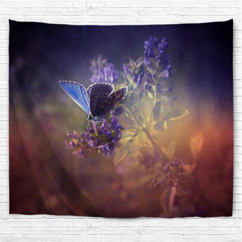 Purple Butterfly 3D Printing Home Wall Hanging Tapestry for Decoration - multicolor A W153CMXL102CM