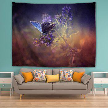 Purple Butterfly 3D Printing Home Wall Hanging Tapestry for Decoration - multicolor A W229CMXL153CM