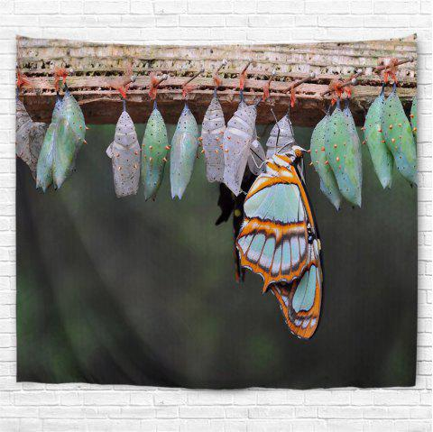 Butterfly Eggs 3D Printing Home Wall Hanging Tapestry for Decoration - multicolor A W153CMXL130CM