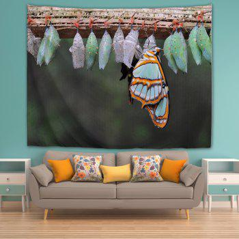 Butterfly Eggs 3D Printing Home Wall Hanging Tapestry for Decoration - multicolor A W153CMXL102CM