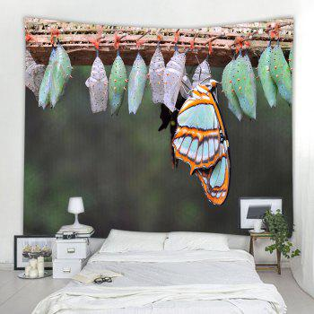 Butterfly Eggs 3D Printing Home Wall Hanging Tapestry for Decoration - multicolor A W203CMXL153CM