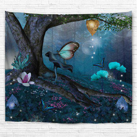 Wonderland Butterfly 3D Printing Home Wall Hanging Tapestry for Decoration - multicolor A W230CMXL180CM