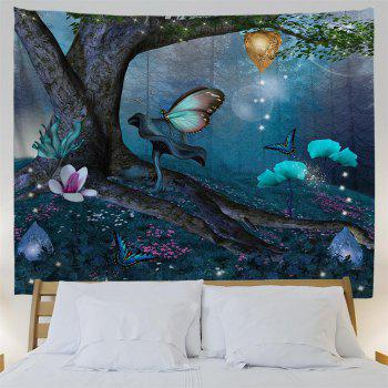 Wonderland Butterfly 3D Printing Home Wall Hanging Tapestry for Decoration - multicolor A W153CMXL130CM