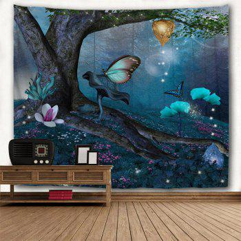 Wonderland Butterfly 3D Printing Home Wall Hanging Tapestry for Decoration - multicolor A W200CMXL180CM