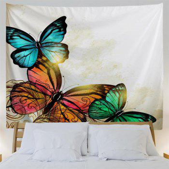 Red Yellow Green Butterfly 3D Printing Home Wall Hanging Tapestry for Decoration - multicolor A W229CMXL153CM