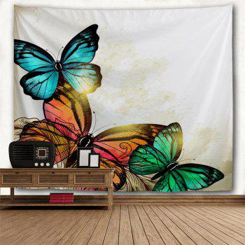 Red Yellow Green Butterfly 3D Printing Home Wall Hanging Tapestry for Decoration - multicolor A W153CMXL102CM