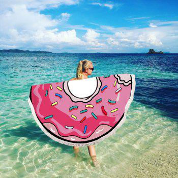 Doughnut Beach Towel with Microfiber Tassel - multicolor A 150CM