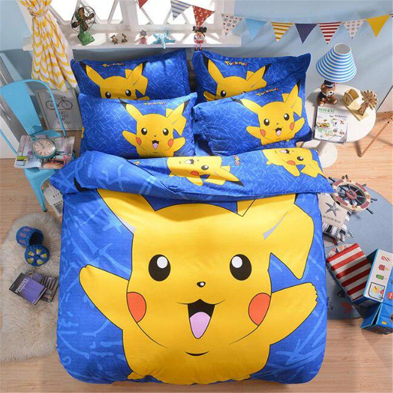 Cartoon Four-Piece Bedding Set for Student and Child cartoon tree duvet cover set