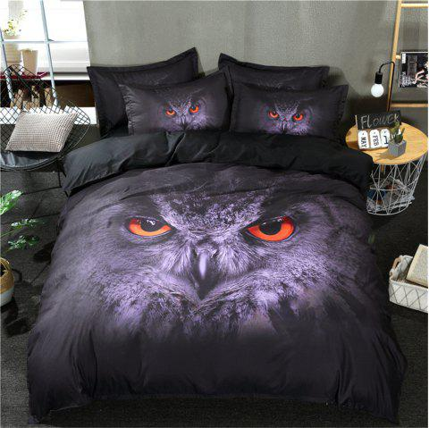 3D Starry Wolf Bedding Sets - multicolor B QUEEN