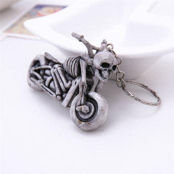 Creative Fashion Motor Purse Bag Key Ring Rubber Keyring Gift Keychain - SILVER