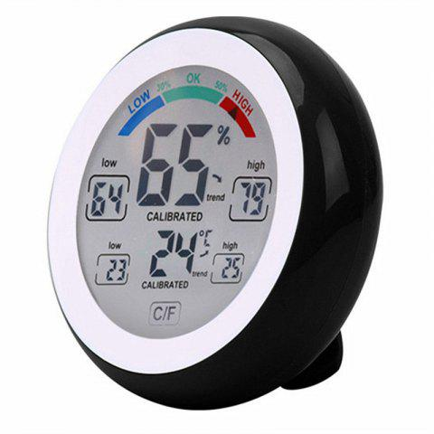 Touch Screen Temperature and Humidity Meter - BLACK