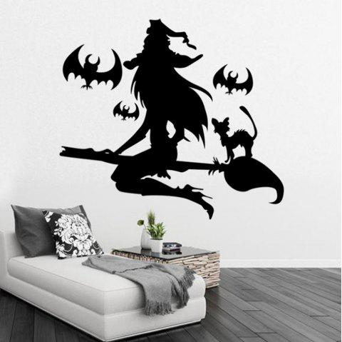 Black Wall Sticker Witch Halloween - BLACK