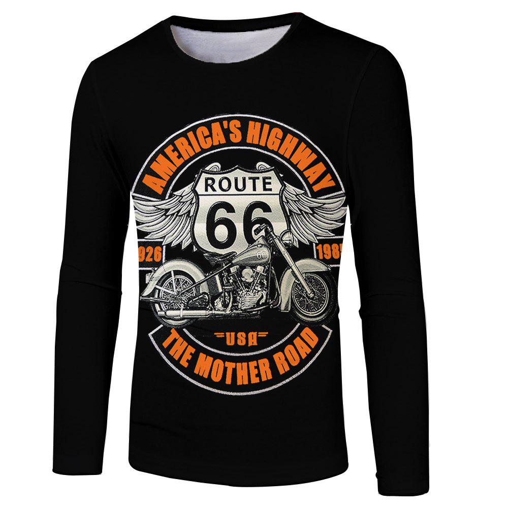 3D Spring and Autumn Motorcycle Printing Men's Long Sleeve T-shirt 270022905