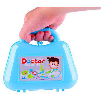 Kids Play Set Toys Puzzle Simulation Box of Medicine Doctor - DAY SKY BLUE