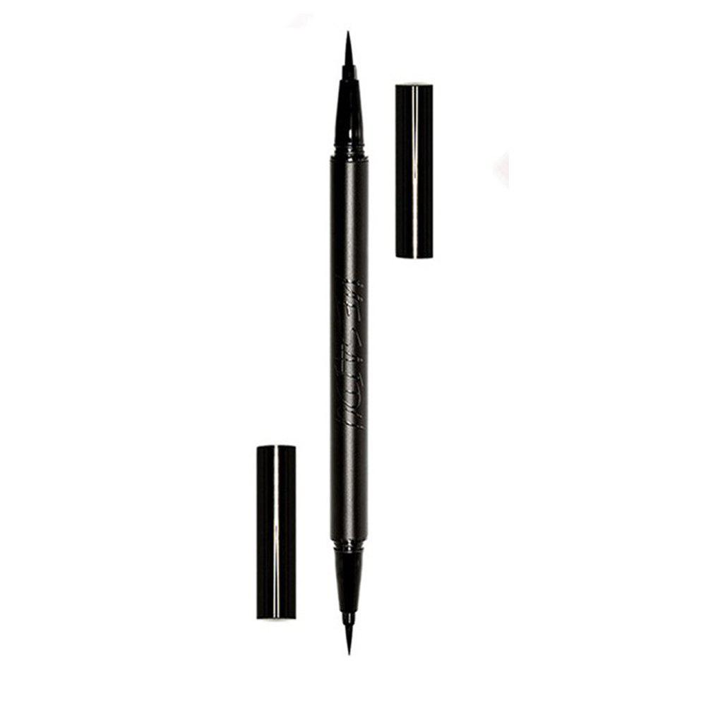MESAIDU 2in1 Waterproof  Double Color Eyeliner Pen - BLACK